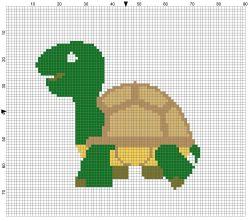 Beginner's Tortoise Counted Cross Stitch Sewing Kit